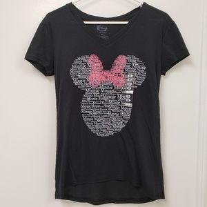 Disney Minnie Mouse V-Neck Short Sleeve Tee NWOT.